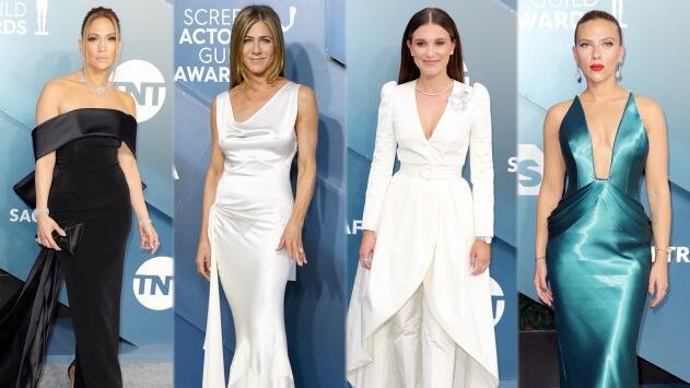 ¿Jennifer Aniston parecía novia? Analizamos su look y el de JLo y Scarlett Johansson en los SAG Awards