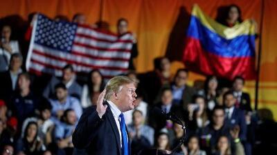 Trump habla de Venezuela en Miami en un discurso con clave electoral