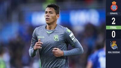 No habrá Europa League para Héctor Moreno; la Real Sociedad perdió con el Espanyol