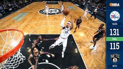 Sixers arrollan a Nets en Brooklyn con gran noche de Tobias y Simmons