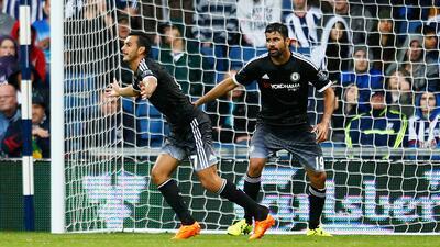 Pedro, en su debut, anota en la sufrida victoria del Chelsea ante West Brom