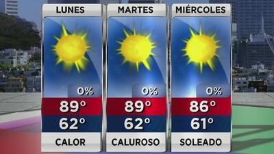 Condiciones tranquilas para este inicio de semana en el Área de la Bahía