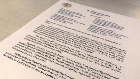 Divulgarán una versión del informe del fiscal especial Robert Mueller sobre el 'Rusiagate'