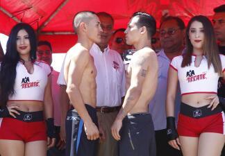 """Juan Francisco """"Gallo"""" Estrada y Hernán """"Tyson"""" Márquez en peso"""