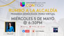 """Cómo ver el foro """"Contigo Rumbo a la Alcaldía"""" organizado por Univision Nueva York"""