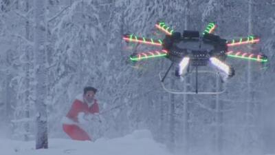 Santa Claus cambia su famoso trineo por un dron