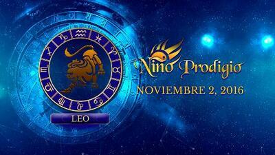 Niño Prodigio – Leo 2 de Noviembre, 2016