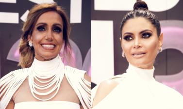 Misma diseñadora, mismo color: así se vistieron Lili Estefan y Chiquinquirá Delgado en PLN 2018