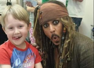 Johnny Depp Lady Cilento Children's Hospital