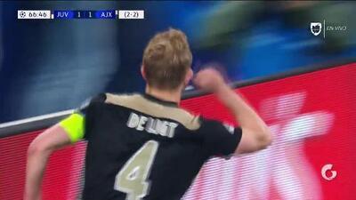¡GOOOL! Matthijs de Ligt anota para Ajax