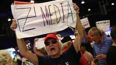 A las asociaciones de periodistas de EEUU les preocupa la libertad de prensa bajo el gobierno de Donald Trump