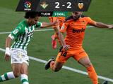 Betis desaprovecha asentarse en Europa y empata con el Valencia