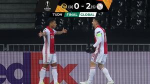 Ajax cumple con el trámite y avanza en la UEFA Europa League