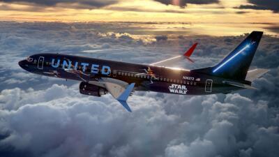 Despega desde Houston el primer avión comercial inspirado en la saga de Star Wars