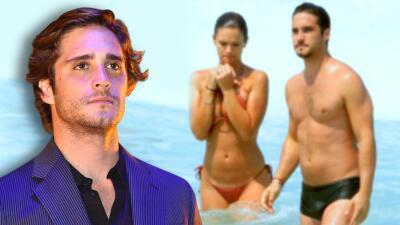 Por culpa de los tacos, a Diego Boneta no le gustaron las fotos que unos paparazzi le tomaron en traje de baño