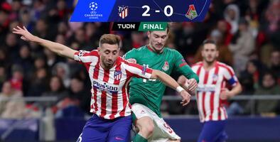 Atlético y Héctor Herrera vencen a Lokomotiv y avanzan en Champions