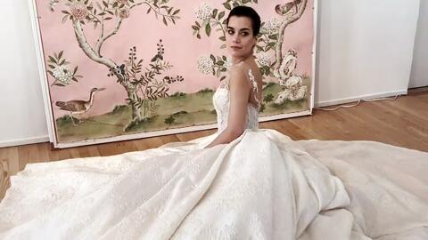 Francisca Lachapel recibió buenas ideas para su vestido de novia desde la Semana de la Moda Nupcial de NY