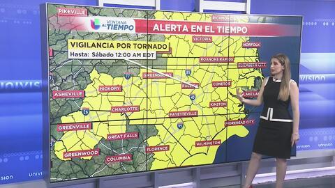 Vigilancia por tornado hasta el sábado 12:00 a.m.