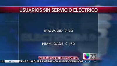 Comienzan a restablecer servicio eléctrico en el condado Broward tras el paso de Matthew