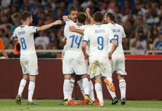 En fotos: Italia sigue firme hacia la Eurocopa con victoria sobre Grecia