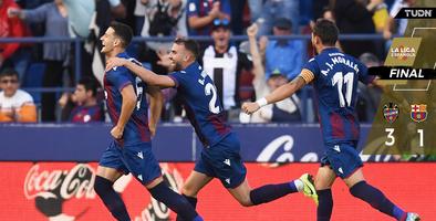 Levante con la increíble remontada sobre Messi y el Barcelona