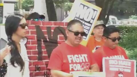Protestan en Houston para que las autoridades tomen acción contra la ley SB4