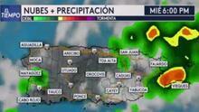 Continuarán los aguaceros de ligeros a moderados en Puerto Rico este miércoles