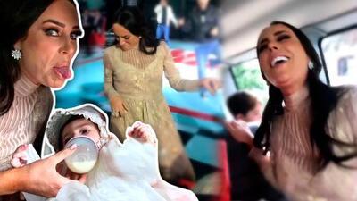 Bailando y cantando el Ave María: lo que no se vio de Inés Gómez Mont en el bautizo de su hija