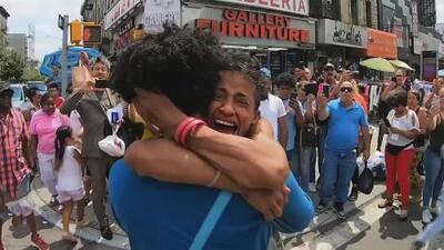 El emotivo reencuentro de Susy Pérez, exbailarina de JLo que vive en la calle, con su hijo a quien no veía hace años