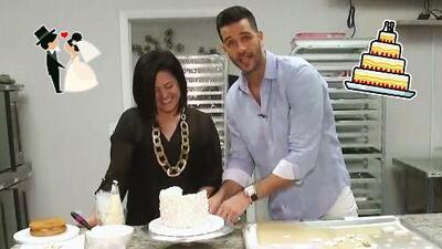 Fuimos testigos del proceso de elaboración del pastel de boda de Andrea, la hija de Giselle Blondet
