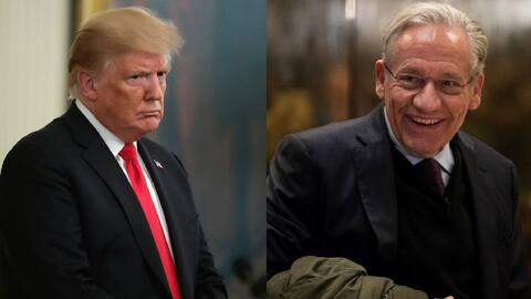 """Trump califica de """"fraude"""" el libro de Bob Woodward sobre su gobierno"""