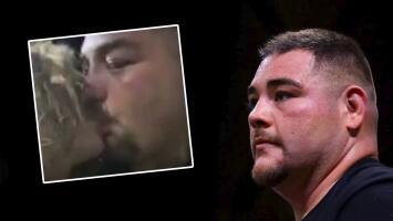 Andy Ruiz sorprende con video en el que besa a una mujer que no es su esposa