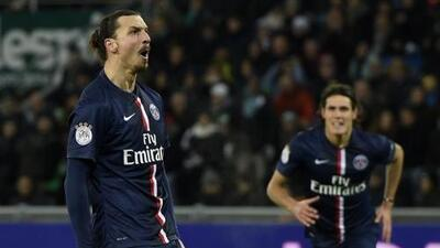 St. Etienne 0-1 PSG: Ibrahimovic prolonga la persecución del PSG al Lyon