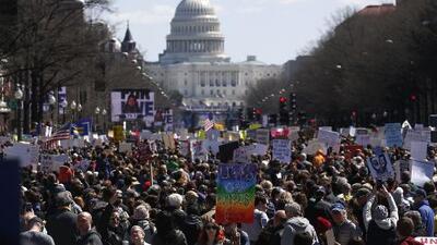 En Washington DC más de 800,000 personas participaron en la manifestación 'March For Our Lives'