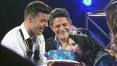 Ricky Martin y Alejandro Sanz le cantaron a Laura Pausini por su cumpleaños