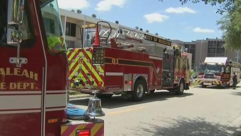 Residentes de un edificio en Hialeah regresan a sus hogares tras alerta por un escape de gas