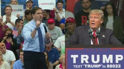 Donald Trump y Marco Rubio luchan por llevarse 99 delegados en Florida