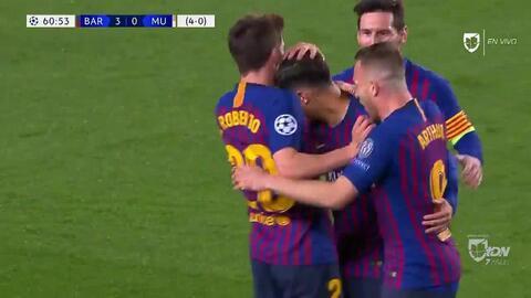 ¡GOOOL! Coutinho anota para Barcelona