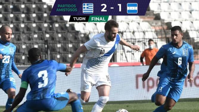 Honduras cerró sus juegos de preparación con derrota ante Grecia