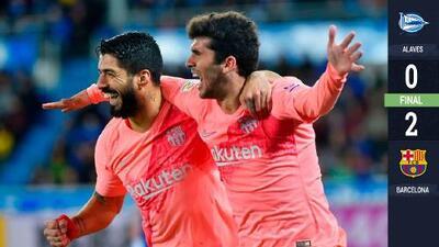 Aleñá y Suárez acercan al Barcelona hacia el título