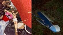 """""""Fue un milagro de Dios"""": El ala de una avioneta cayó sobre su casa"""
