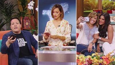¿Qué tan adictos al celular son en Despierta América? Karla, Satcha y Francisca lo dejaron bien claro