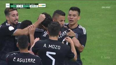 ¡GOOOL! Roberto Alvarado anota para Mexico