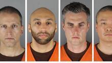 Acusan a 4 expolicías, entre ellos Derek Chauvin, de violación de derechos civiles por la muerte de George Floyd