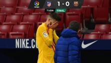 Barcelona pierde con el Atlético de Madrid; Gerard Piqué se lesionó