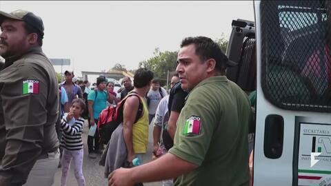 Migrants are being detained in Mexico with or without transit visas