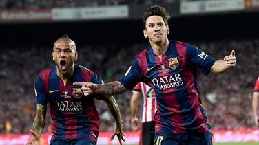 """Dani Alves aconseja a Messi: """"Los que se van del Barça se arrepienten"""""""