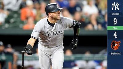 Con seis cuadrangulares los Yankees apaciguan a los Orioles
