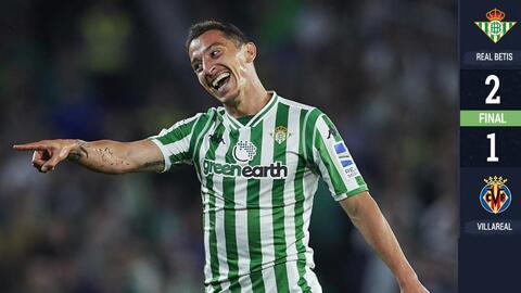 Andrés Guardado marca su asistencia número 30 en La Liga y el Betis vence 2-1 al Villarreal