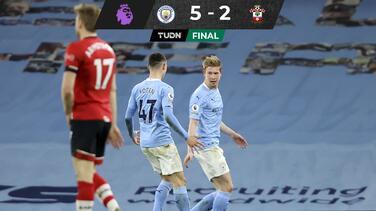 Manchester City goleó a Southampton y aumentó su 'colchón' en la cima